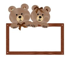 Photo by - Minus Borders For Paper, Borders And Frames, Teddy Photos, Teddy Beer, Teddy Bear Party, Bear Theme, Page Borders, Frame Clipart, Flower Clipart