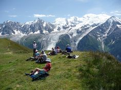 Mountain views on the Mont Blanc Circuit.  One of our best selling trips, this adventure uses a wonderful chalet in a quiet hamlet as a home base to hike the best sections of the Mont Blanc Circuit in one week.  http://www.adventurecenter.com/tripcode?tripcode=twn