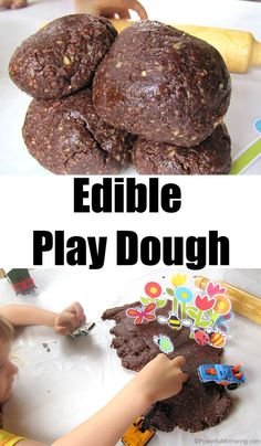 Edible Play Dough - Education and lifestyle Kids Wedding Activities, Thanksgiving Activities For Kids, Science Activities For Kids, Sensory Activities, Chocolate Oat Cookies, Chocolate Oats, Edible Cookies, Edible Cookie Dough, Homemade Paint