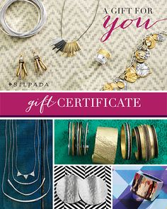 $25/$50/$100 Gift Certificates - Silpada Designs  An awesome gift for the Holidays. Purchase one here at www.mysilpada.com/carolyn.petty