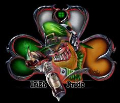 Irish Pride Shamrock Skull - T-Shirt St Patricks Day Quotes, Happy St Patricks Day, Irish Tattoos, Celtic Tattoos, Scottish Tattoos, Leprechaun Tattoos, Irish Symbols, Celtic Symbols, Clover Tattoos