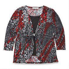 Veste-chandail une pièce pour dames Classic Editions Dame, Blazer, Jackets, Tops, Fashion, Jacket, Down Jackets, Moda, Fashion Styles