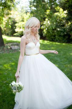 J Crew wedding dress.