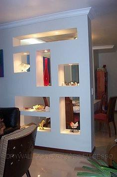 The Best 2019 Interior Design Trends - Interior Design Ideas Living Room Partition Design, Living Room Divider, Room Partition Designs, Room Divider Screen, Living Room Decor, Partition Ideas, Niche Design, Wall Design, House Design