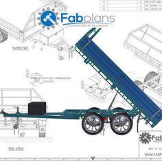 10'x7' Tipper Trailer plans - Build your own tandem axle dump trailer A3+CDROM Truck Bed Trailer, Trailer Plans, Trailer Build, Flatbed Trailer, Bike Trailer, Atv Trailers, Dump Trailers, Tandem, Trailer Suspension