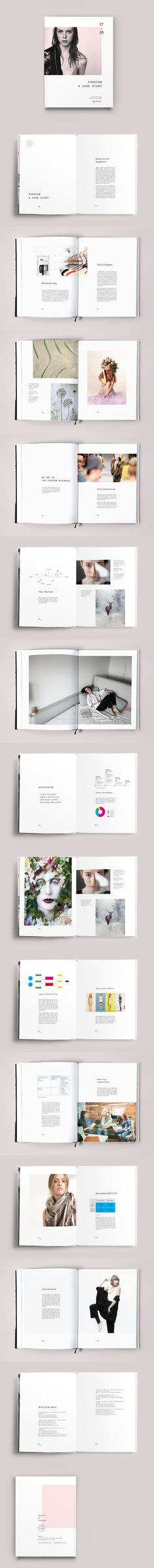 Fashion Case Study Template InDesign INDD - 28 Pages, A4 & US letter size + Bleed.elegant book layout.