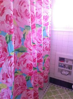 lilly bath curtain! so cute