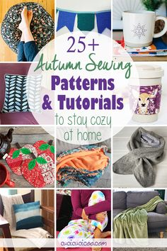 Get the 25+ best autumn sewing patterns and fall sewing projects to stay warm and cozy at home! The whole family will love these creative ideas for the cool fall weather! Fall Sewing Projects, Sewing Projects For Beginners, Sewing Crafts, Sewing Hacks, Sewing Tutorials, Good Tutorials, Braided Fleece Blanket Tutorial, Diy Pillows, Wool Pillows