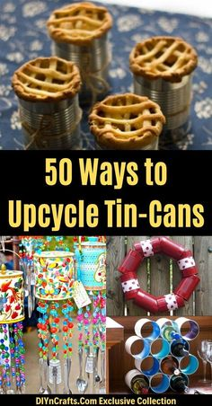 Here are 50incredible tin can recycling projects that will blow your mind! I can't wait to try these projects for myself, and I know you'll be just as excited to do some of these yourself! #diy #upcycle #recycle #tincans #crafts #ecofriendly Aluminum Can Crafts, Tin Can Crafts, Diy Home Crafts, Easy Crafts, Handmade Crafts, Handmade Rugs, Garden Crafts, Diy Projects Using Tin Cans, Recycling Projects