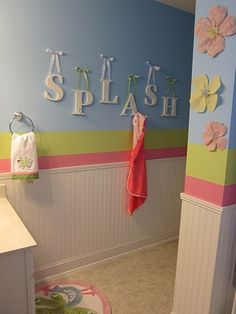 cute kids bathroom ideas ribbon shower curtain glitter wall paint in 17101