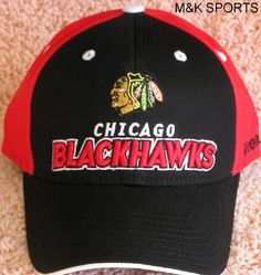 CHICAGO BLACKHAWKS EMBROIDERED ADJUSTABLE OSFA REEBOK CAP FREE SHIPPING $19.89