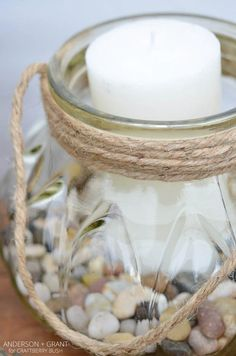 How to Turn Glass Jars into Charming Lanterns in 15 Minutes
