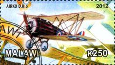Stamp: Airko D.H.6 (Cinderellas) (Malawi) Col:MW 2012-15/2