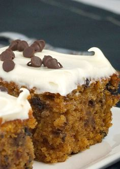 Chocolate Chip Pumpkin Spice Bars #recipe