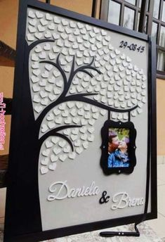 Wedding Guest Board by Lyra Design Studio… Can also be a good for family pictures. Wedding Cards, Diy Wedding, Wedding Gifts, Dream Wedding, Diy And Crafts, Paper Crafts, Diy Birthday, Wedding Guest Book, Diy Art