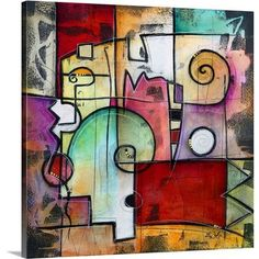 """Canvas On Demand 'Rialto' by Eric Waugh Painting Print on Canvas Size: 16"""" H x 16"""" W x 1.25"""" D"""