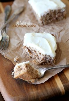Cookies and Cups Old Fashioned Oatmeal Cake - Cookies and Cups