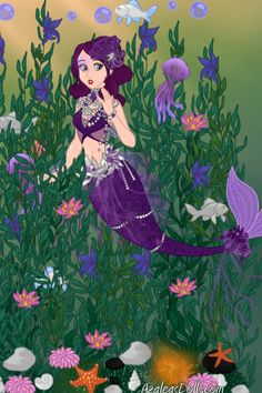 Kelp Forest Mermaid (A Christmas Gift for silver_kitten) by QueenGrania ~ Disney Dress Up