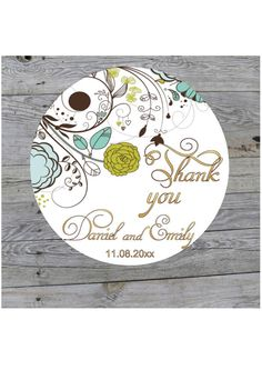 Custom Wedding Stickers Thank You Stickers Personalized Wedding Favor Labels…