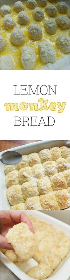 Easy Lemon Monkey Bread using frozen Rhodes rolls -  by Rumbly in my Tumbly