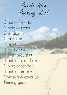 what to pack, vacation, packing, puerto rico