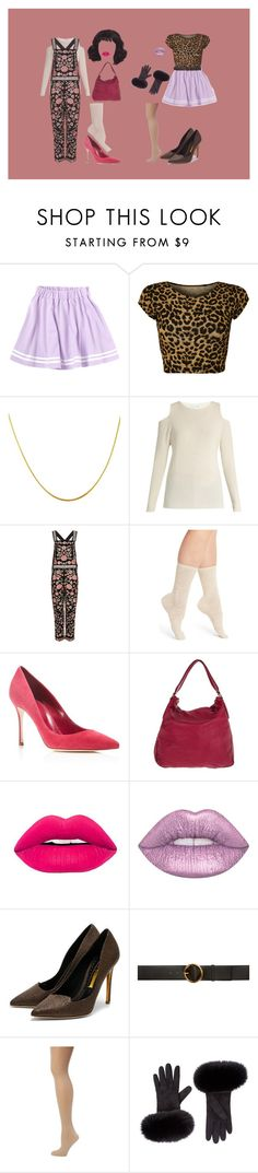 """""""Untitled #109"""" by jack-rabbit ❤ liked on Polyvore featuring WearAll, Velvet by Graham & Spencer, Needle & Thread, Natori, Sergio Rossi, Liebeskind, Lime Crime, Rupert Sanderson, STELLA McCARTNEY and Pretty Polly"""