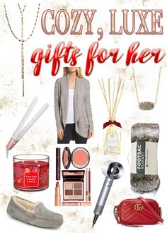 12 Cozy, Luxe Gifts for Her Valentines Gifts For Her, Christmas Gifts For Her, Birthday Gifts For Her, Christmas Birthday, Classic Eyeliner, Winter Candy Apple, Luxury Gifts For Her, Cosmetic Shop, Makeup Must Haves