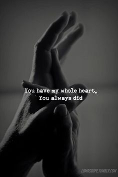 You always did ...