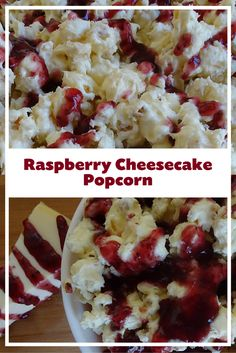 Rich, delicious, quick and EASY Raspberry Cheesecake Popcorn recipe from Kernel Season's. This would be an awesome way to change up a dessert bar at a party, is very kid friendly and is a real crowd pleaser for the family! Would also be a cool new Movie Night treat.