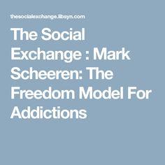 The Social Exchange : Mark Scheeren: The Freedom Model For Addictions