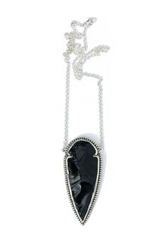 Pamela Love - Obsidian Arrowhead Necklace | BONA DRAG