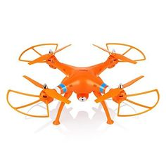Czxin New Version Syma X8c 24g 4ch 6axis Venture Drone Rc Quadcopter RTF Helicopter with 20mp Wide Angle Camera Better Than X5c Orange ** Click image to review more details.