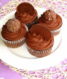 Ferrero Rocher and Reese's Cup Cupcakes