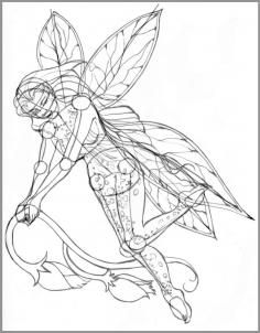 how to draw realistic fairies, draw a realistic fairy step 7