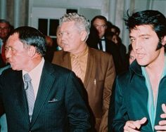Elvis Presley Frank Sinatra Candid