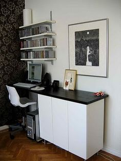 IKEA hack. Computer desk from kitchen counter top and cabinets. Can I use this idea for treadmill desk set up ?