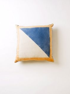 pillow with color clock pattern fabric