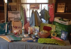 "Norwex Display Table- I can this particular set up my ""Window of Opportunity!"" Consultant home show or vendor event presenting NORWEX!!!"