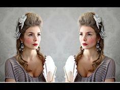 Marie Antoinette Hair & Makeup Tutorial - SÉRIE CARNAVAL | Alice - Golden Locks - YouTube