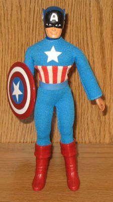 Mego Captain America action figure. One of the few Megos I still have (though not my original one) (not my photo).