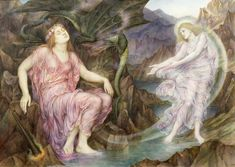 The Passing of the Soul at Death  Artist: Evelyn De Morgan