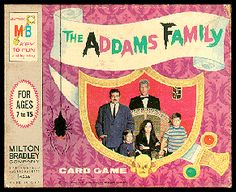 1960s Milton Bradley Addams Family card game - what ever happened to this? MIA at our house