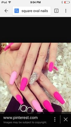 Square oval nails