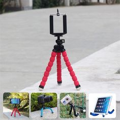 Car Phone Holder Flexible Octopus Tripod Bracket Stand Mount Monopod Styling Accessories For Sony Mobile Phone Samsung Camera