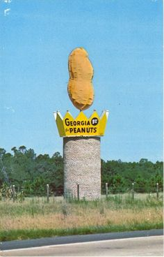 """""""Monument to Georgia's number 1 cash crop, located on I-75 in Ashburn, Ga., center of the Peanut Belt. Also, visit the world's largest peanut processing plant located in Ashburn, Ga. for more information contact Turner County Chamber of Commerce, P.O. Box 24, Ashburn, Georgia."""""""