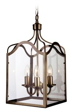 Lom0475 Lombard 4 Light Lantern Pendant In Antique Brass Open Brass Frame And Indoor Lanterns