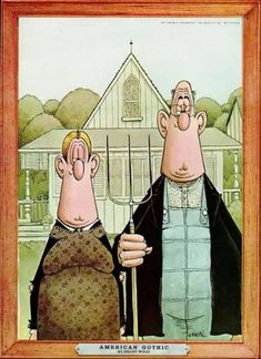 I got a bit fed up with American Gothic, but I can't resist Don Martin.