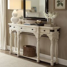 A spectacular classical storage option, the Riverside Furniture Regan Console Table is poised to make your living room more functional and fashionable. Decor, Furniture, Foyer Furniture, Riverside Furniture, Home Decor, Rental Furniture, Dining Room Console Table, Dining Room Console, Dining Room Accents