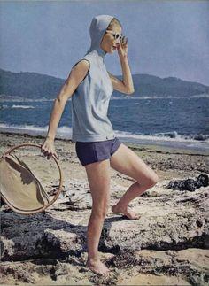Beach fashions for L'Officiel, 1956.