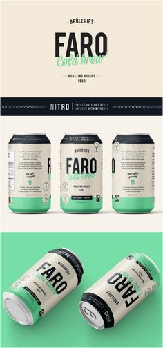 Brand Creation and Packaging Design Organic Cold Brew Coffee Design Agency: Gaspard Agence Brand / Project Name: FARO Roasting House Cold Brew Nitro Location: Canada Category: World Brand & Packaging Design Society Beverage Packaging, Coffee Packaging, Bottle Packaging, Brand Packaging, Food Packaging, Food Branding, Coffee Branding, Branding Design, Design Agency